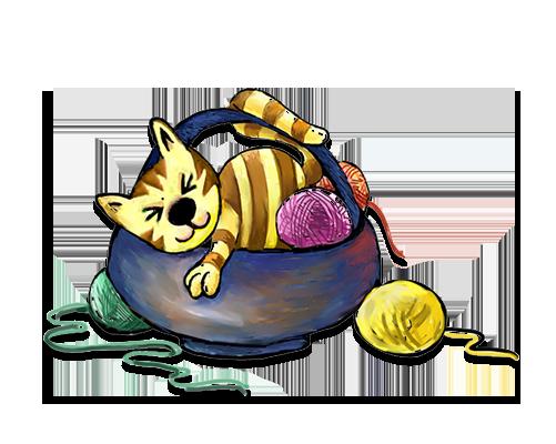 kleiner könig katze